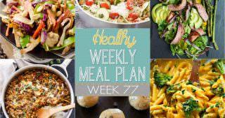 Healthy Meal Plan Week #77
