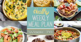 Healthy Meal Plan Week #76