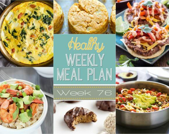 This week for our Healthy Meal Plan, we have a week filled with a Roasted Tomato Caprese Frittata, then a One Pot Cheesy Taco Zucchini Skillet and Protein Peanut Butter Truffles!