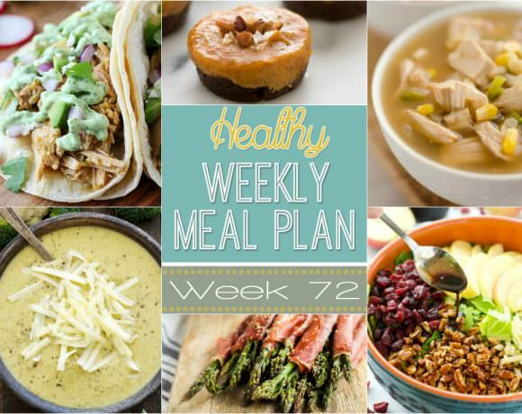 Healthy Meal Plan Week #72
