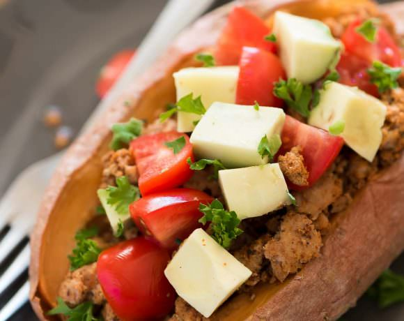 5 Ingredient Taco Paleo Stuffed Sweet Potatoes