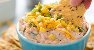 Greek Yogurt Spicy Corn Dip