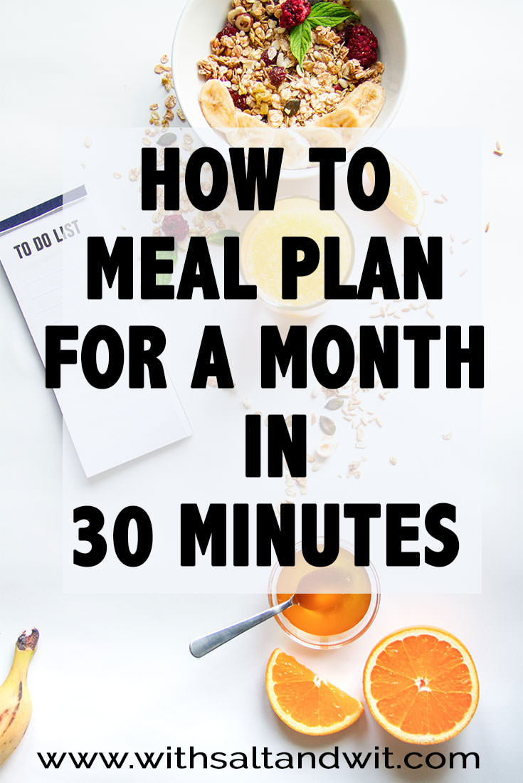 how to meal plan for a month fit mama real food